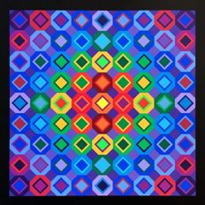 Victor Vasarely - Réponse à Victor Vasarely, Composition, FOLKOKTA