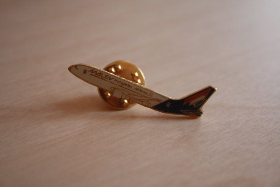 Malév Hungarian Airlines Aircraft Pin Boeing 767 by AviationStuff