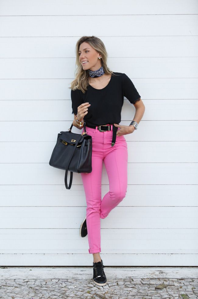calça rosa barbie sem parecer caricata