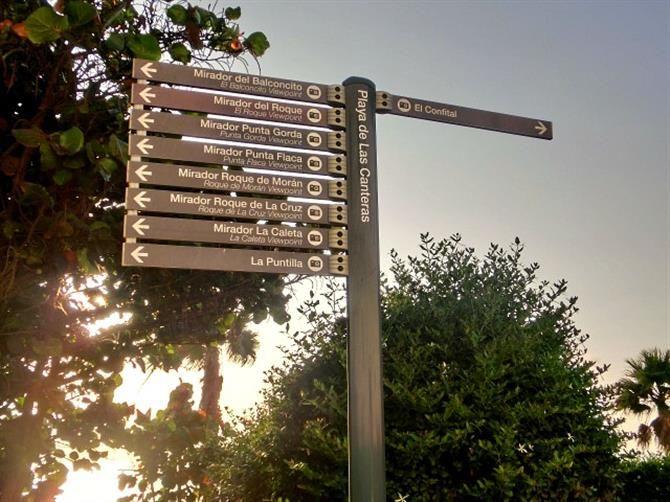 Do you know the way to Las Palmas de Gran Canaria's El Confital? Handy signposts will make your arrival a smooth one.