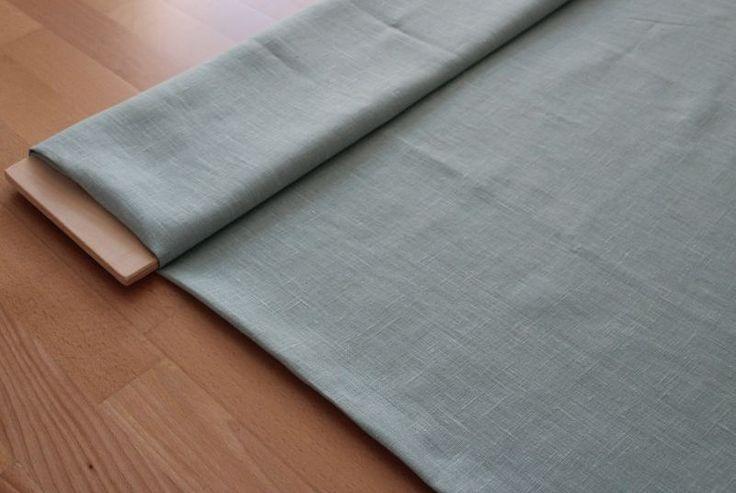 Stoffe uni - mintgrünes   Leinen  - ein Designerstück von raphaelaM bei DaWanda