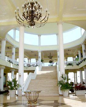 Resort Lobby, Grand Palladium Jamaica. Here in Fall 2010.  Oceanview has balcony off livingroom and master!