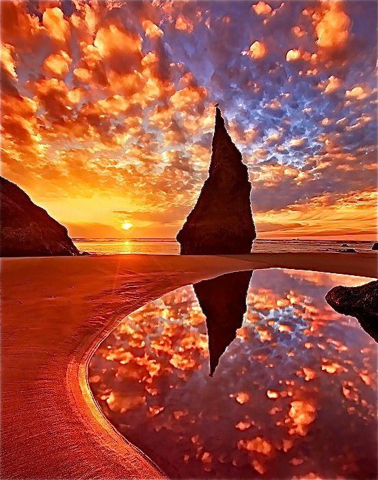Sunset reflection. Click to shop Matthew Williamson beachwear.