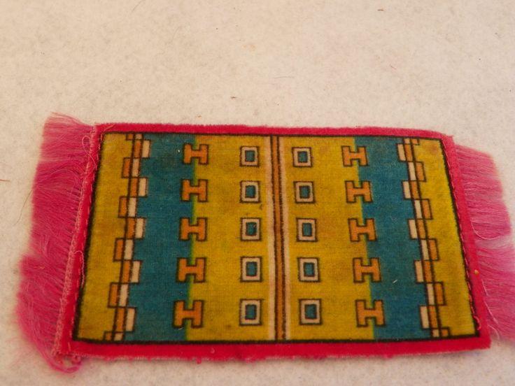Antique Pink Dollhouse  Miniature Rug , Vintage Silk Felt Tobacco Carpet , 1:12 1/12 scale Doll House  Mat , Cigar Felt  Silks Mini Rug by ShersBears on Etsy