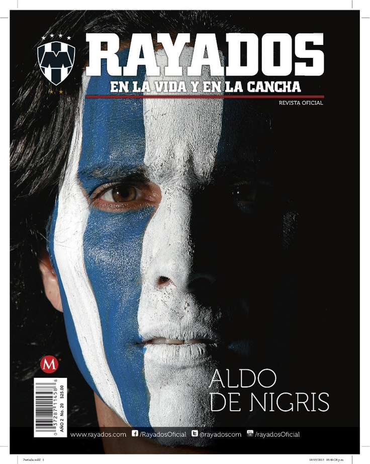 ¡Ya está la Revista #Rayados 20 con @Denigris9! Adquiérela en #TiendaRayados y autoservicio