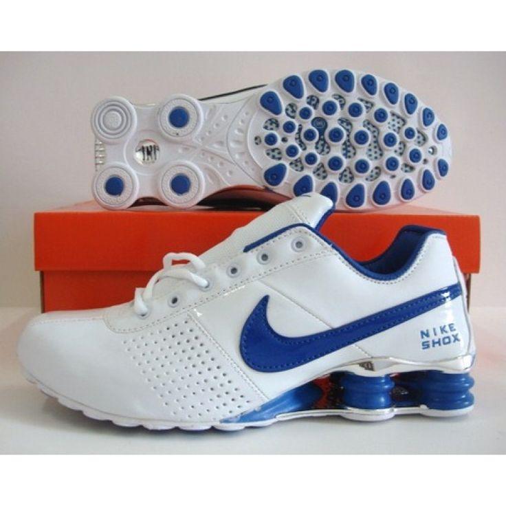 Nike Shox OZ White Blue Leather , Price: $71.90 Shox NZ Nike Shox