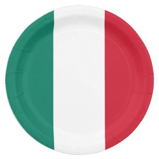 Flag of Italy Italia Italian Paper Plate  sc 1 st  Pinterest & 90 best Italy flag and Italian themed event gifts images on ...