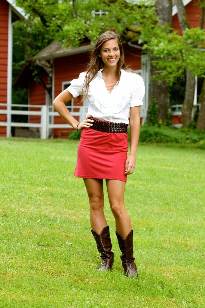 Cowboy Boots And Skirts Come In My Size Pinterest