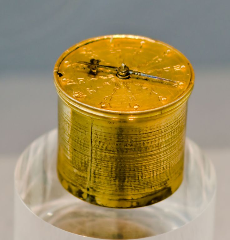 """Pocketwatches evolved from clock-watches, called """"Nuremberg eggs"""", worn on chains around the neck. Example by Peter Henlein, 1510,"""