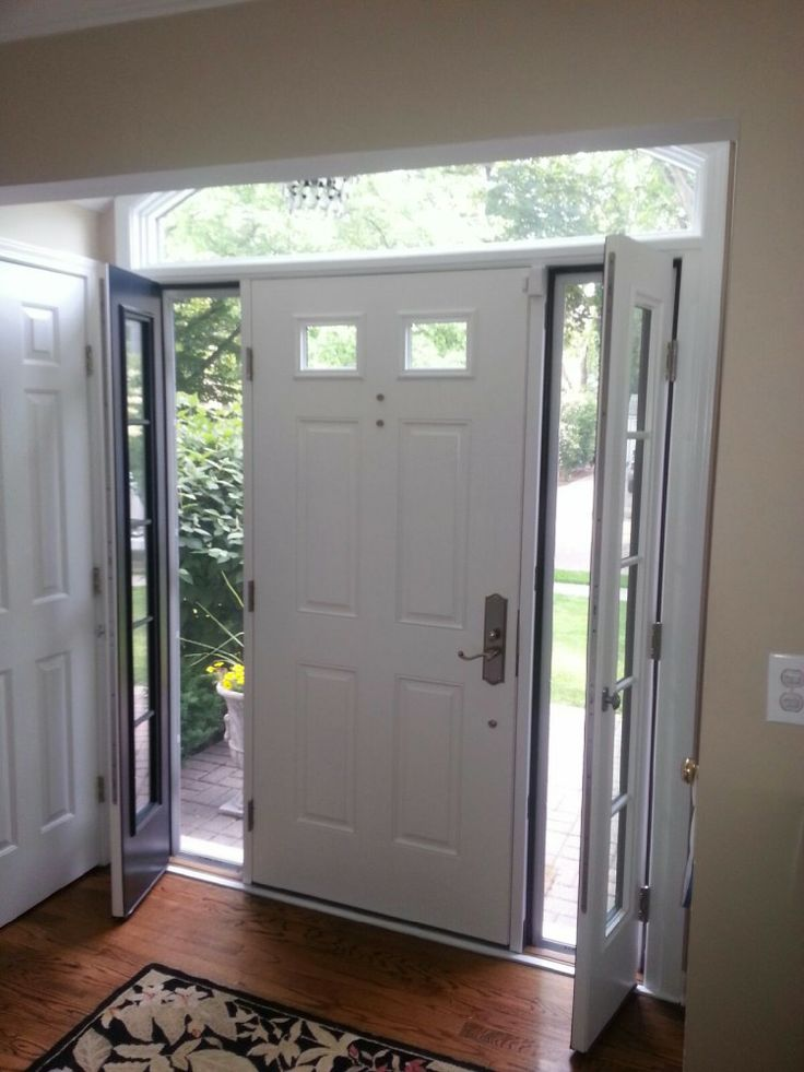 Therma Tru Smooth Star Door With Venting Sidelites House