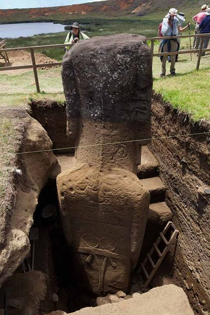 Le teste Moai dell'isola di Pasqua hanno un corpo 3