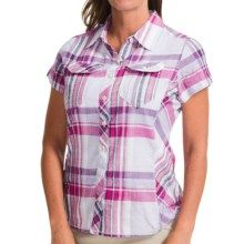 Columbia Sportswear Siletz Point Shirt - Short Sleeve (For Women) in Groovy Pink Check - Closeouts