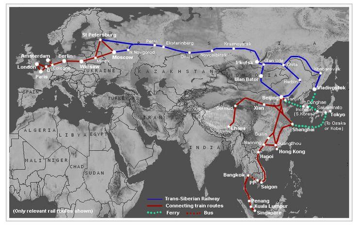 """Der Traum """"Transsibirische Eisenbahn"""" - z.B. von Moskau nach Peking schon für 578€"""