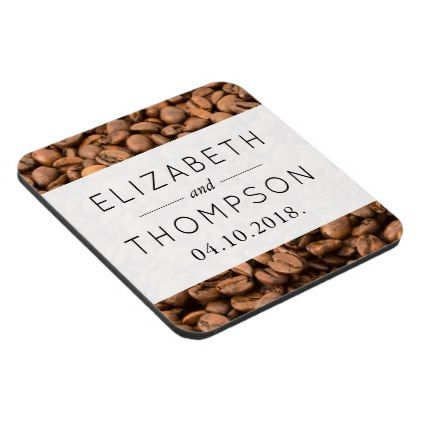 #Wedding - Roasted Arabica Coffee Beans - Brown Drink Coaster - #WeddingCoasters #Wedding #Coasters Wedding Coasters