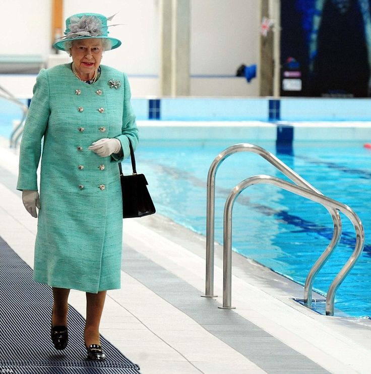the queen visits the olympic swimming pool in corby on the - Olympic Swimming Pool Top View