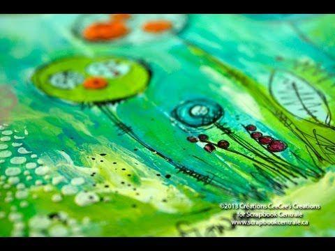 journal d'artiste avec les Primary Elements Art Journaling