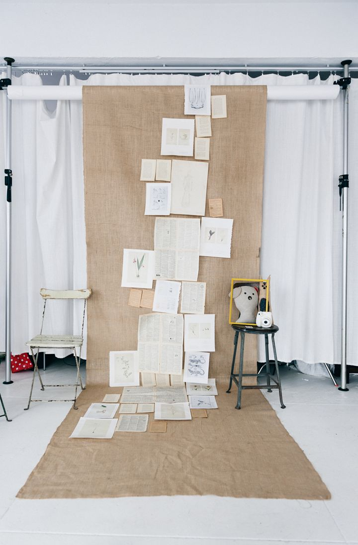 Burlap curtains are you kidding me what a backdrop - Burlap Book Page Photo Backdrop Make A Natural Simple Backdrop Using Burlap Or Fabric And Book Pages Great Photo Backdrop Or Even Just An
