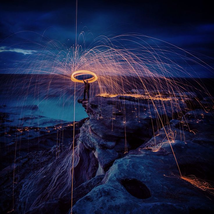 On the Edge  LightpaintLab.com Photo Update One of my most favourite spots in Sydney Kurnell, NSW, Australia #steelwool #lightpainting #lightpaintlab