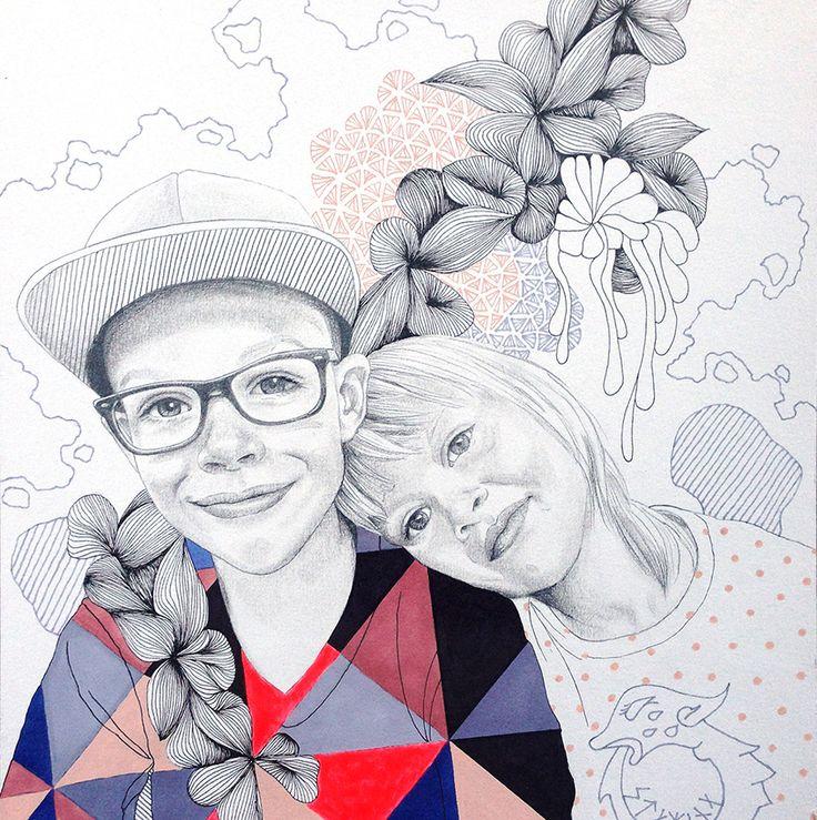 Hvad med at ønske dig et håndtegnet portræt af dine dejlige unger?  F.eks. 2.200kr for 21x24 cm tegnet på 300 g akvarelpapir efter ønsker om farver og motiv. Se evt mere på http://www.lineholtegaard.dk/portraits2/