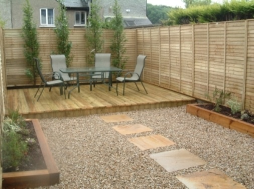 8 best decking ideas images on pinterest landscaping for Low maintenance gravel garden