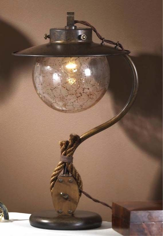84 best nautical lighting collection images on pinterest nautical light table lamp from the cadernal collection aloadofball Image collections