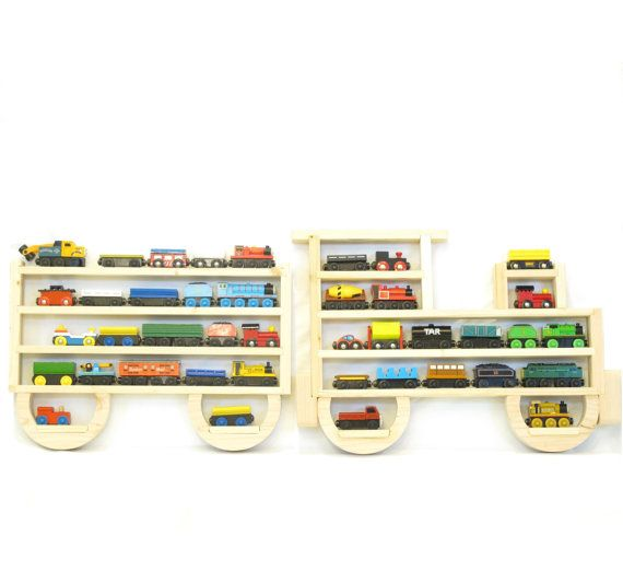 Wooden Wall Storage Train Rack Organizer for Thomas Tank Engine and Brio Tracks on Etsy, £39.93