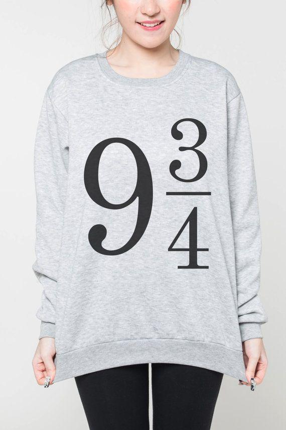 Plateforme 9 3/4 chemise femmes pull tshirt harry potter Sweat-shirt hommes chemise cavalier tee à manches longues t-shirt