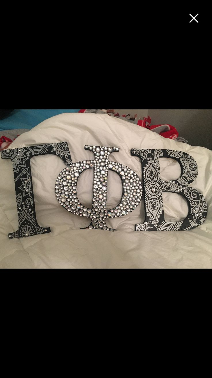 Gamma phi beta wooden letters. Hand painted sorority letters. Black and silver https://www.etsy.com/listing/522011800/sorority-letters