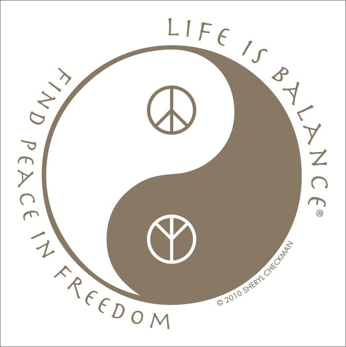 Find peace in freedom life is balance