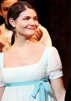 Phillipa Soo during her final curtain call of 'Hamilton' on Broadway at Richard Rodgers Theatre on July 9, 2016.