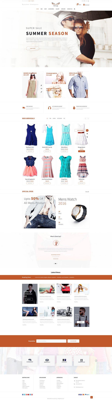 e commerce website template