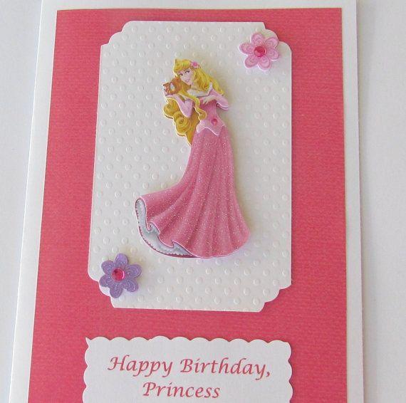 3d sleeping beauty birthday card personalized princess
