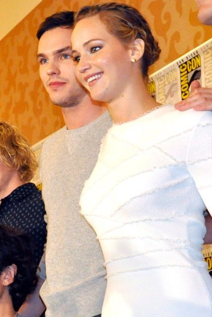 Jennifer Lawrence and Nicholas Hoult @ Comic Con 2013