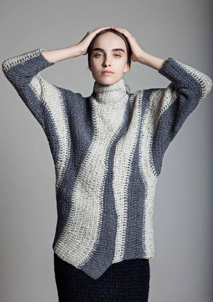 Wow. Fashion designer uses Tunisian crochet #sungheebang #aw2015