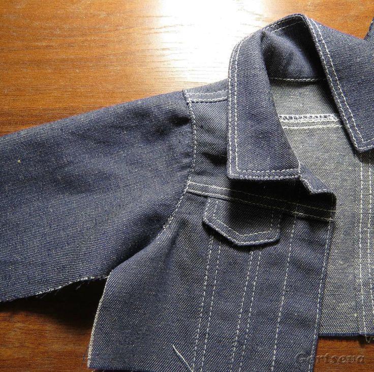 Представляю Вашему вниманию обещанный мастер-класс по пошиву джинсовой курточки для куклы. И так приступим… Выкройка одежды для кукол своими руками