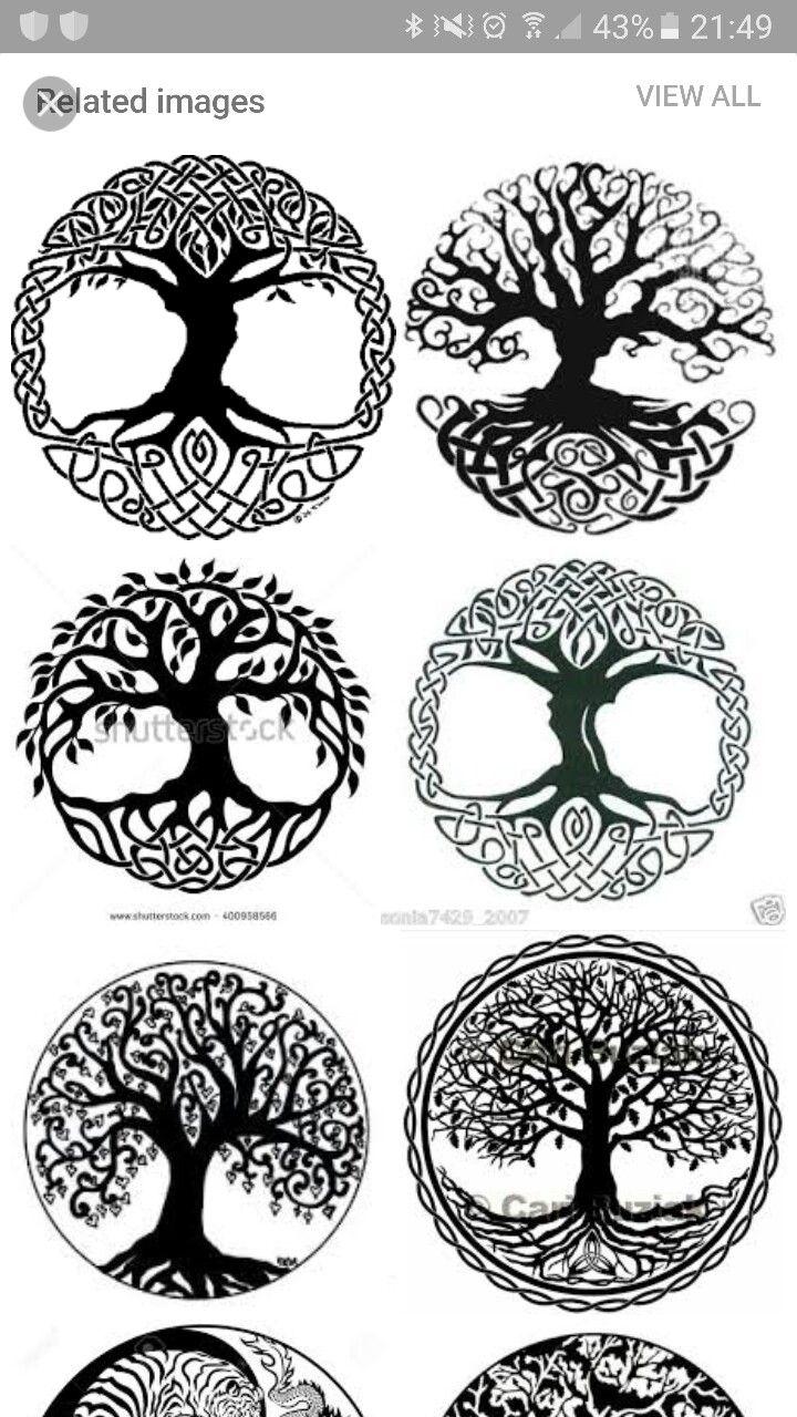 Harmony Celtic Tree Tattoos Tree Of Life Tattoo Yggdrasil Tattoo