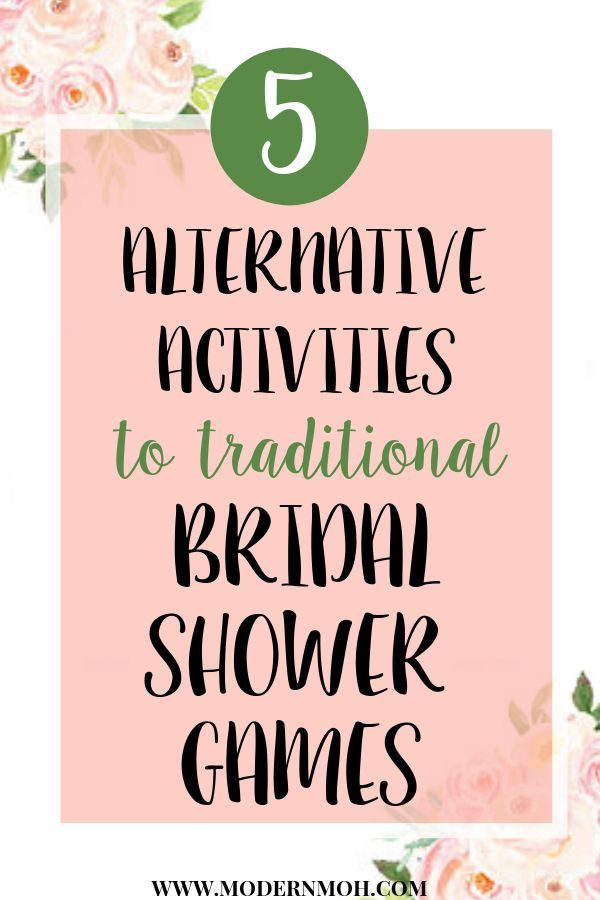 5 Alternative Activities To Bridal Shower Games Bridal