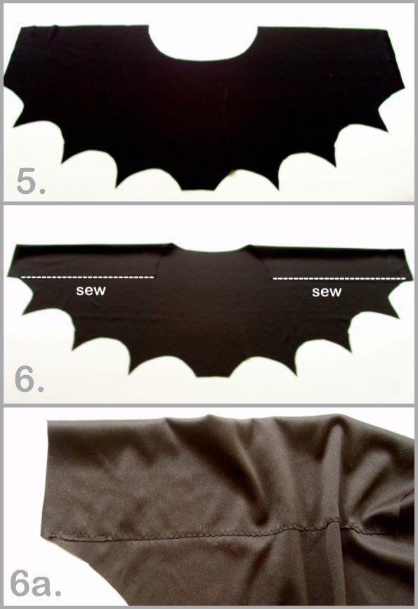 Tutorial para el disfraz de murciélago.