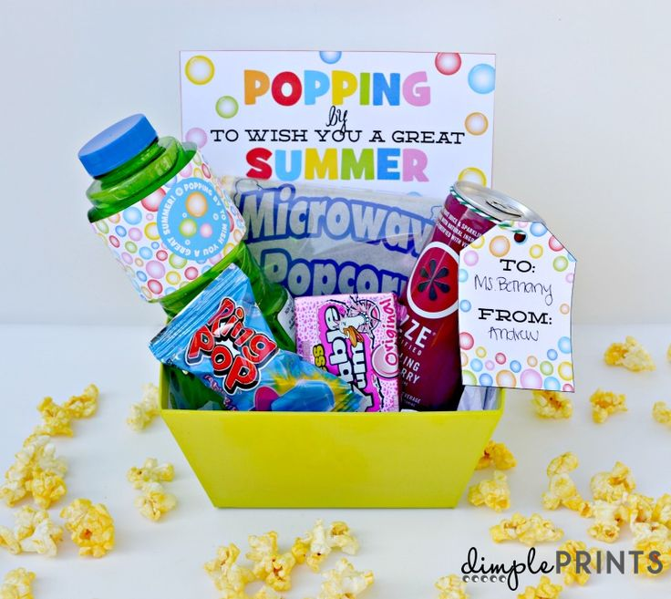 Pop Into Summer Gift Idea and Free Prints {Hello Summer}  FREE PRINTABLES by DimplePrints