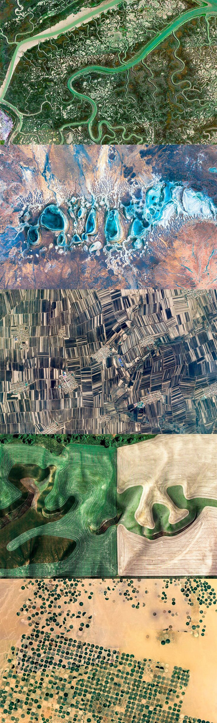 Earth View: A Curated Selection of the Most Striking Satellite Images Found on Google Earth