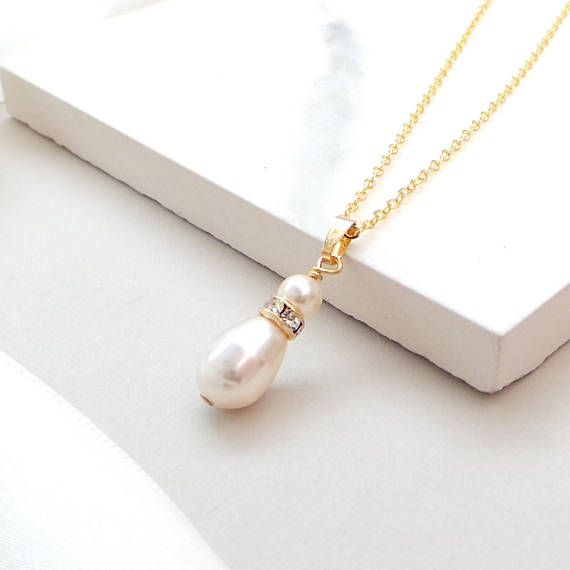 Gold Sparkle Bridal Necklace  Gold Wedding Jewellery  Pearl