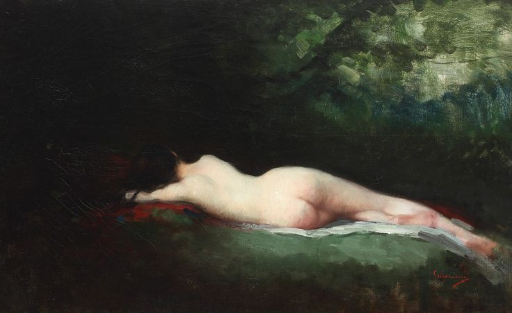 Nicolae Grigorescu (1838-1907) - Nimfă dormind