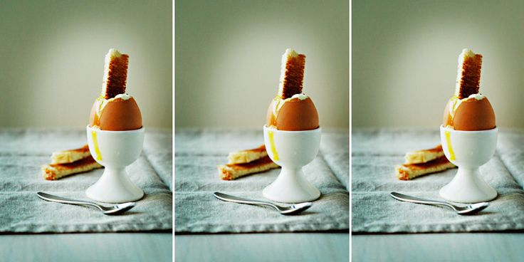 egg. soft boiled. perfect. favorite.  Growing up my grandmother always made us soft boiled eggs with toast for breakfast. I have been collecting egg cups so that my husband and I can share this tradition with our kids.