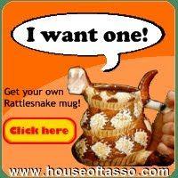 scottish king: craig ferguson's rattle snake mug