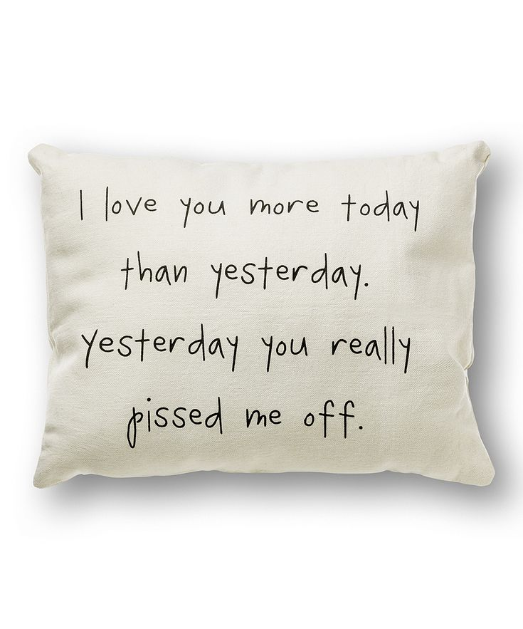 White 'I Love You More' Throw Pillow