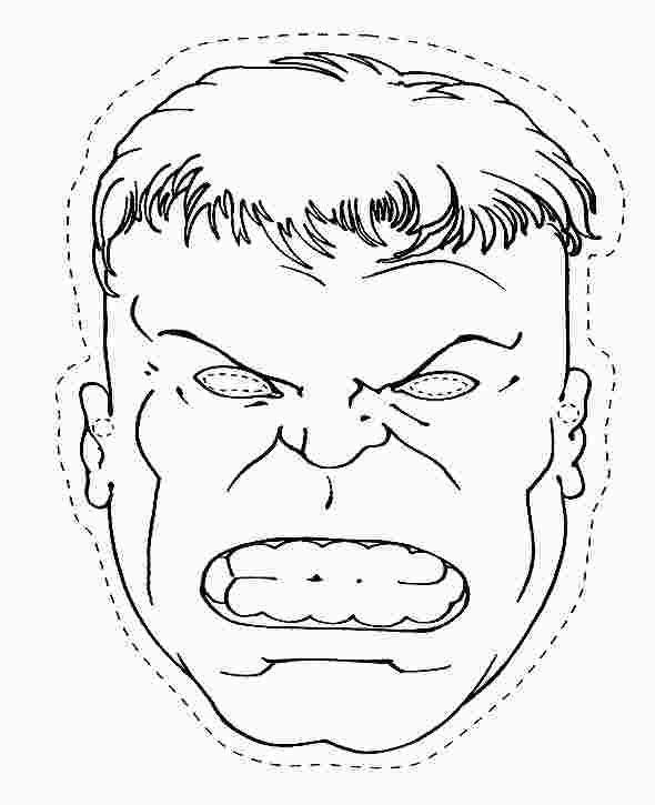 Hulk Head Coloring Page Hulk Coloring Pages Coloring Mask Red Hulk