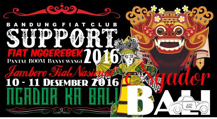 Support jamnas fiat 2016 ngador ka bali by jhon design