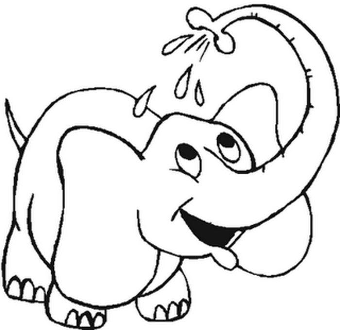 elephant coloring book pages | Kid\'s Stuff | Pinterest | Colour ...
