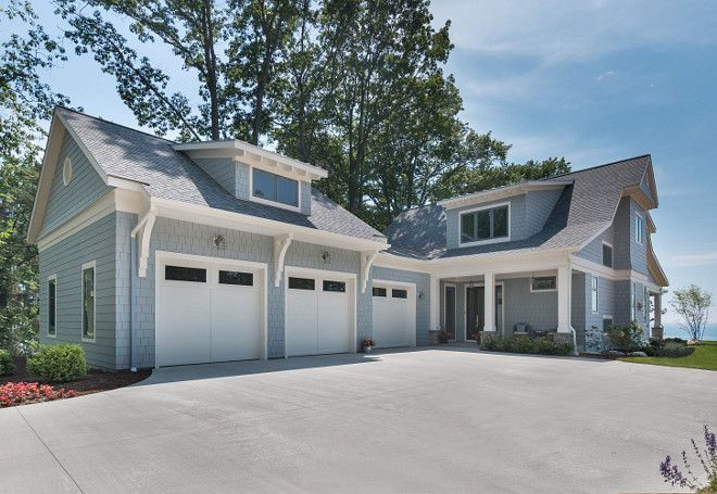 siding paint color is benjamin moore 1599 marina gray  exterior white trim paint color is