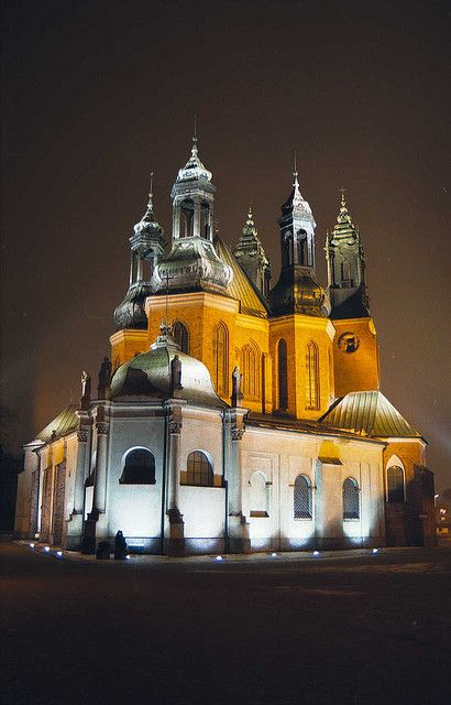 The Cathedral in Poznan, Poland, January 2001 by iancowe, via Flickr
